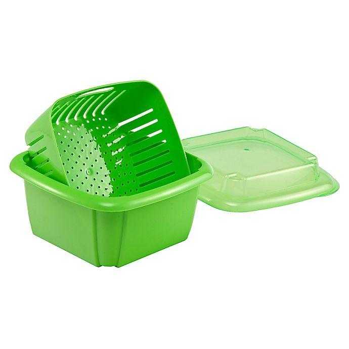 Alternate image 1 for Hutzler 3-in-1 Berry Box in Green