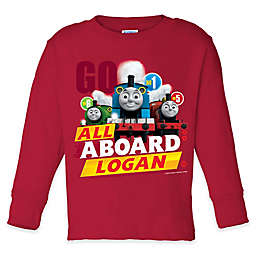 "Thomas & Friends ""All Aboard"" Long Sleeve T-Shirt in Red"