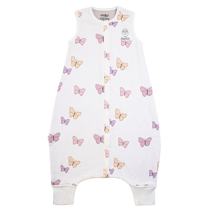 Alternate image 1 for Woolino® 4 Season Baby Sleep Bag with Feet in Butterfly