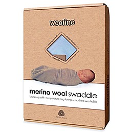 Merino Wool Swaddle Blanket in Blue