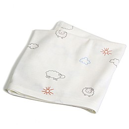 Merino Wool Swaddle Blanket in White