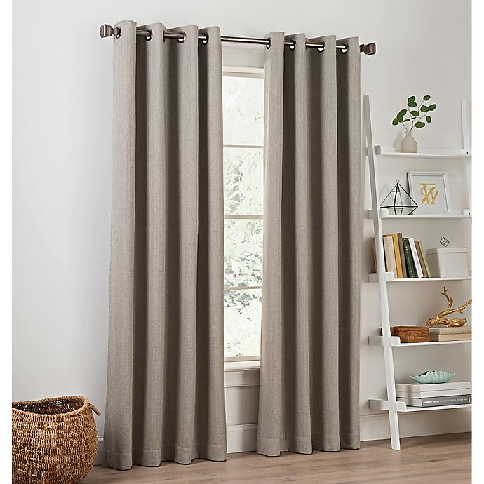 Buy Priella 95-Inch Grommet Top Window Curtain Panel In