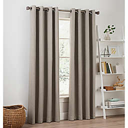 Priella 84-Inch Grommet Top Window Curtain Panel in Stone