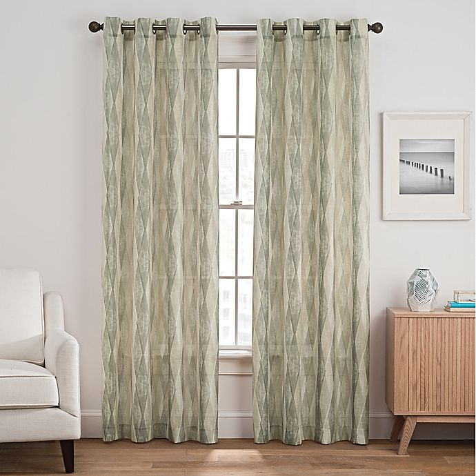 Alternate image 1 for Weston Harlequin Grommet Top Window Curtain Panel