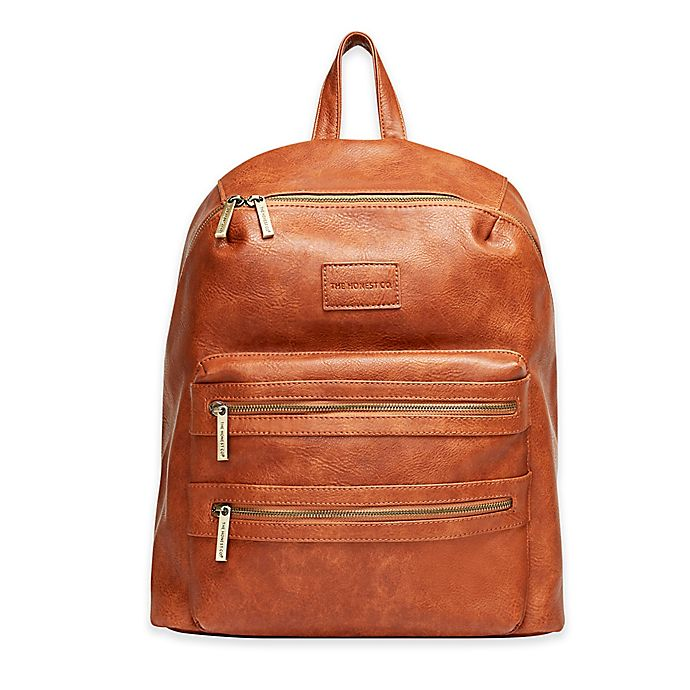 Alternate image 1 for Honest City Backpack Diaper Bag in Cognac
