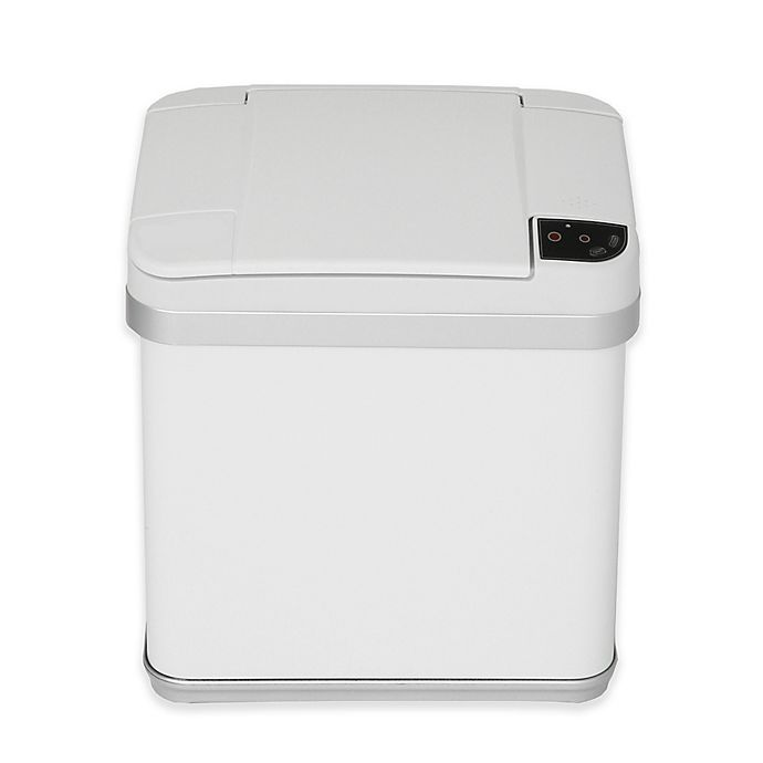 Alternate image 1 for halo™ Multifunction Sensor 2.5-Gallon Trash Can in White