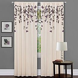 Flower Drops 84-Inch Rod Pocket Window Curtain Panel