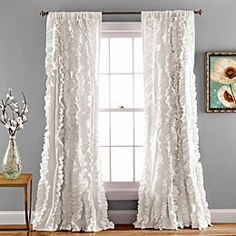 Lush Décor Belle 84-Inch Rod Pocket Window Curtain Panel