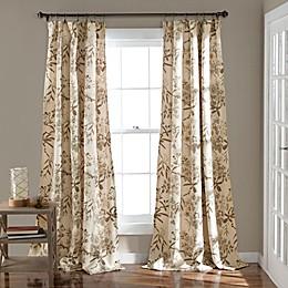 Lush Decor Botanical Garden 2-Pack 84-Inch Room Darkening Window Curtain Panels