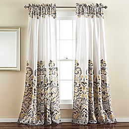 Lush Decor Clara 2-Pack Room Darkening Rod Pocket Window Curtain Panels