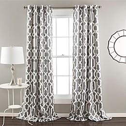 Edward Trellis 84-Inch Grommet Top Room Darkening Window Curtain Panel Pair