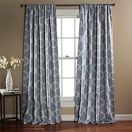 Geo Rod Pocket Blackout Window Curtain Panel Pair
