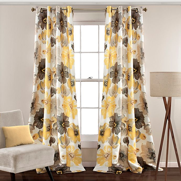 Alternate image 1 for Leah 2-Pack Grommet Room Darkening Window Curtain Panels