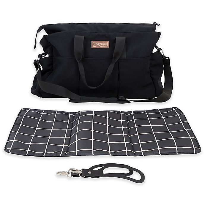 Alternate image 1 for Mountain Buggy® Double Satchel in Black/White