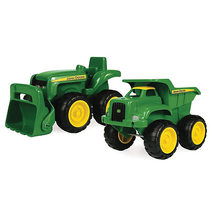 Alternate image 1 for John Deere 2-Pack Truck and Tractor Sandbox Toys