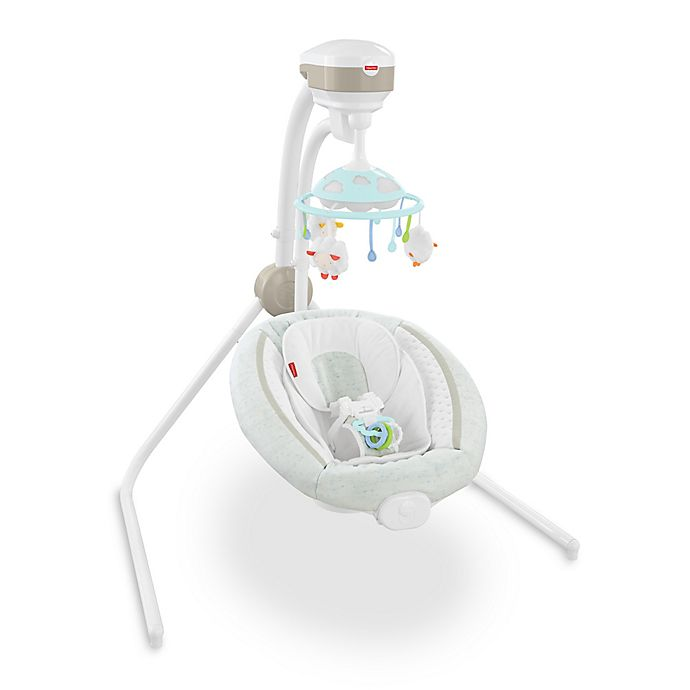 Alternate image 1 for Fisher-Price® Comfy Cloud Cradle 'n Swing