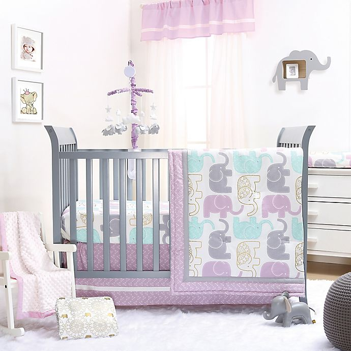 New Carter/'s ZOO COLLECTION Purple Floral Crib//Toddler Fitted Sheet
