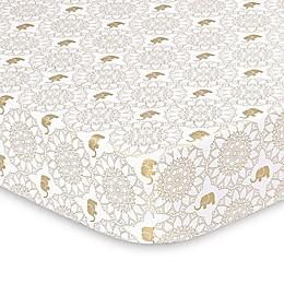 The Peanut Shell® Little Peanut Medallion Fitted Crib Sheet in Golden