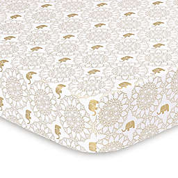 The Peanut Shell® Little Peanut Medallion Fitted Crib Sheet in Golden