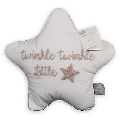 "Living Textiles ""Twinkle Twinkle Little Star"" Star-Shaped Throw Pillow"