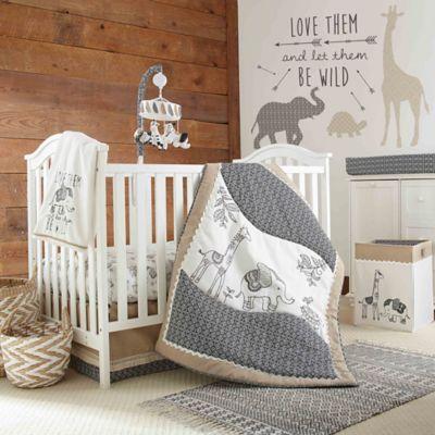 LevtexR Baby Animal Sketch Crib Bedding Collection