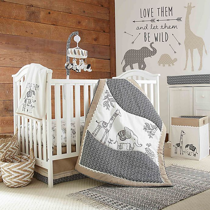 Levtexbaby 174 Animal Sketch 4 Piece Crib Bedding Set Bed