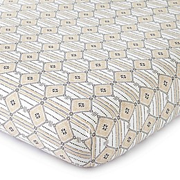 LevtexBaby® Animal Sketch Diamond-Print Fitted Crib Sheet