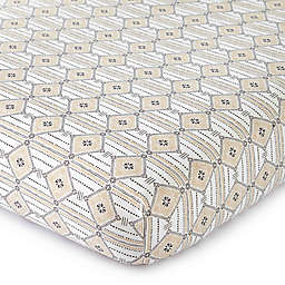LevtexBaby® Animal Sketch Diamond-Print Fitted Crib Sheet