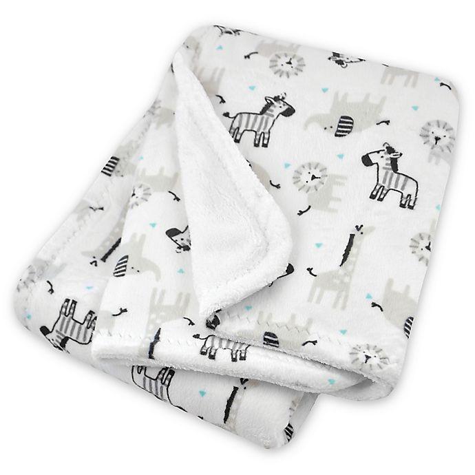 Alternate image 1 for Just Born® Animal Print Plush Blanket