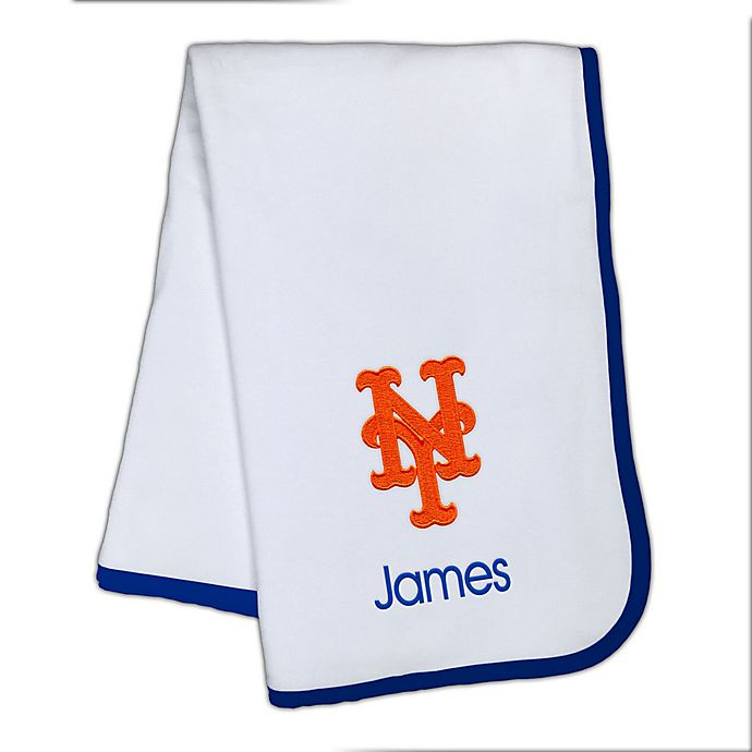 Alternate image 1 for Designs by Chad and Jake MLB New York Mets Baby Blanket