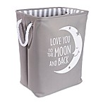 Taylor Madison Designs®  Love You To the Moon  Hamper in Grey/White