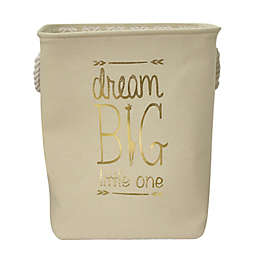 "Taylor Madison Designs® ""Dream Big Little One"" Hamper in Natural/White"