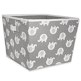 Taylor Madison Designs® Elle Storage Bin in Grey/White