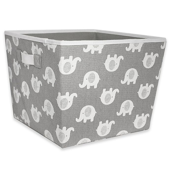 outlet store a04a4 35173 Taylor Madison Designs® Elle Storage Bin in Grey White