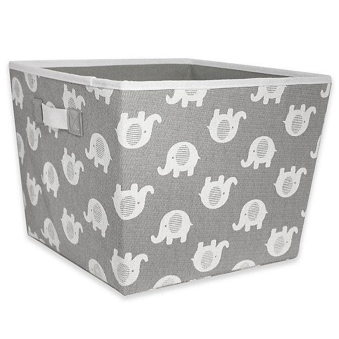 Alternate image 1 for Taylor Madison Designs® Elle Storage Bin in Grey/White