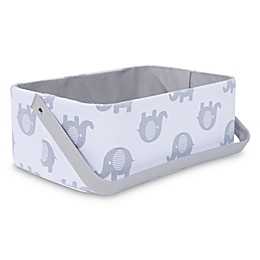 Taylor Madison Designs® Elle Diaper Caddy in White/Grey