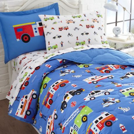 Olive Kids Heroes 7 Piece Multicolor, Police Baby Bedding