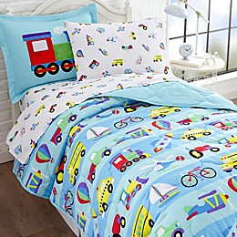 Olive Kids On the Go 5-Piece Twin Bedding Set in Blue