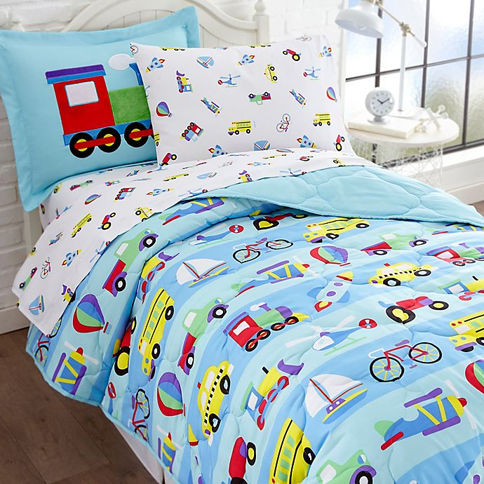 Alternate image 1 for Olive Kids On the Go 5-Piece Twin Bedding Set in Blue