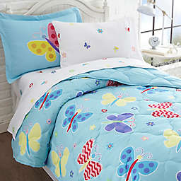 Olive Kids Butterfly Garden 5-Piece Twin Bedding Set in Blue