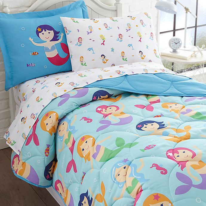 Alternate image 1 for Olive Kids Mermaids 5-Piece Twin Bedding Set in Blue