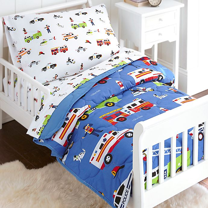 size 40 41ee5 ae5ca Olive Kids Heroes 4-Piece Toddler Bedding Set in Blue ...