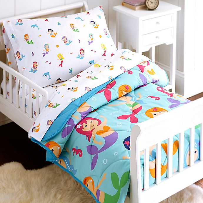 innovative design 76360 8accc Olive Kids Mermaids 4-Piece Toddler Bedding Set in Blue ...