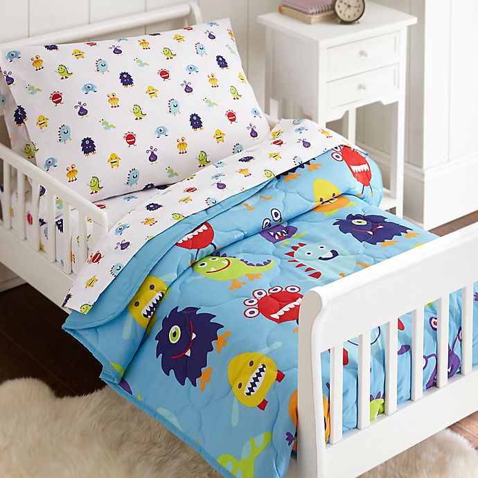 Alternate image 1 for Olive Kids Monsters 4-Piece Toddler Bedding Set in Blue