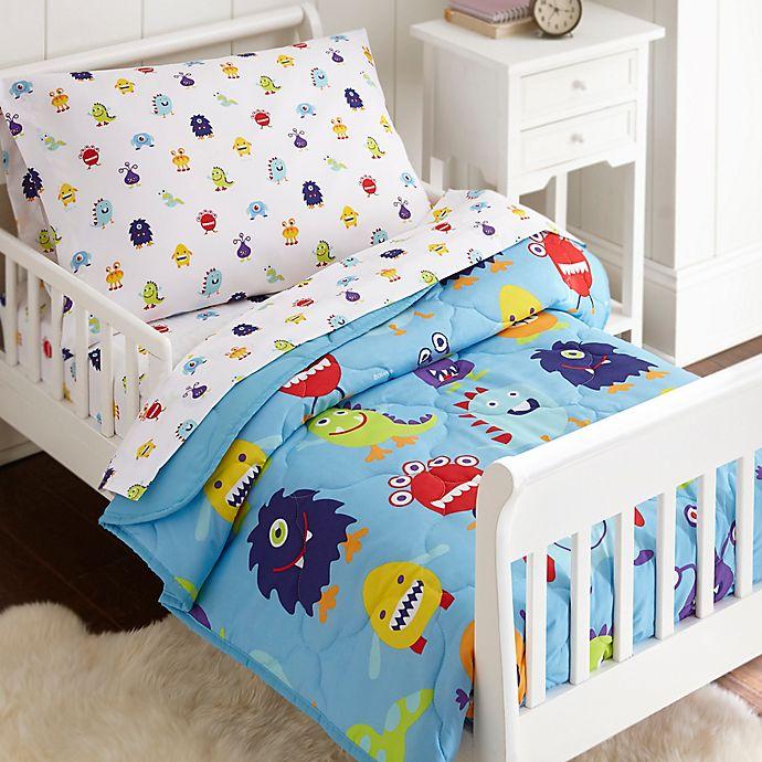 Alternate image 1 for Olive Kids Monsters 4-Piece Toddler Bedding Set in Blue