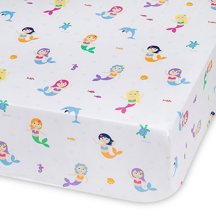 Alternate image 1 for Olive Kids Mermaids Multicolor Fitted Crib Sheet