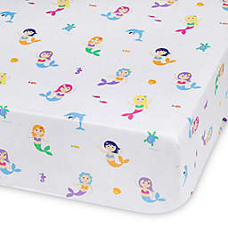 Olive Kids Mermaids Multicolor Fitted Crib Sheet