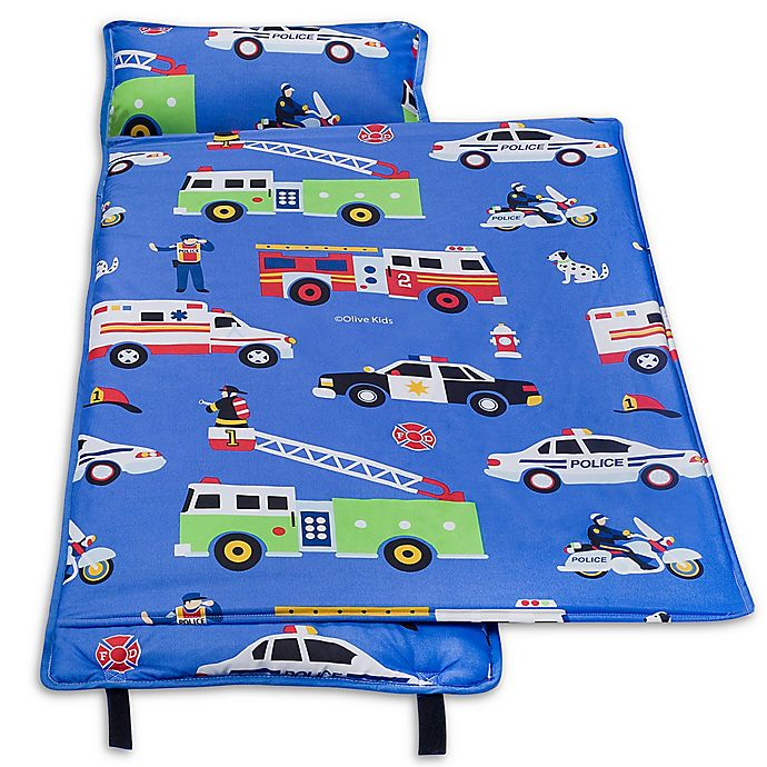 Alternate image 1 for Olive Kids Heroes Microfiber Nap Mat in Blue
