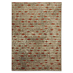 Metropolitan Gianni 5-Foot 3-Inch x 7-Foot 10-Inch Area Rug in Burnt Orange