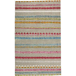 Capel Rugs Genevieve Gorder Scandinavian Stripe 3-Foot 6-Inch x 5-Foot 6-Inch Area Rug in Multi